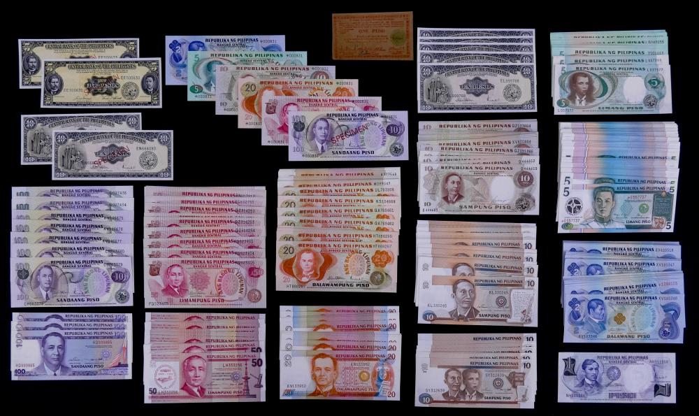 426pc Philippines Banknotes and Specimens UNC