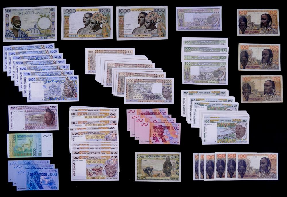 167pc West Africa States Banknotes UNC