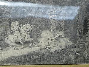 W GRATTAN Circa 1815 An Allegorical Scene Signed