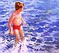 RICK BENTHAM The Next Wave Signed Lower Right Oil on Board 22cm. x 23cm., Rick Bentham, Click for value