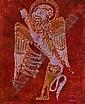 BERNADETTE MADDEN Celtic Design Batik Signed and Labelled 130cm. x 108cm. (51in. x 42.5in.), Bernadette Madden , Click for value