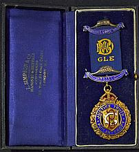 Masonic Medal - RAOB GLE Medal – Ordnance Lodge NO 4888 - 'Justice Truth Ph