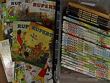 1970s onwards Rupert Annual Selection all hardback issues, appear in good c