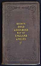 Betts's Road & Railroad Map of England & Wales – Compiled from the latest P