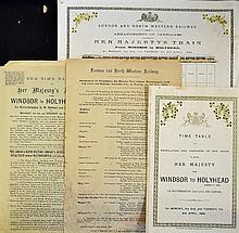 Railway - Collection From Queen Victoria's Royal Tour Of Ireland. Royal Tra