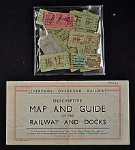 Liverpool Overhead Railway - Promotional pictorial Map 1946 Fine pictorial
