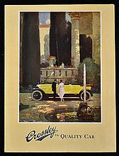 Crossley The Quality Car Brochure 1919-21 - A 4 page 3 fold brochure illust