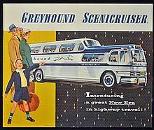 Automotive Greyhound Scenicruiser Publication c.1950s a fine 8 page publica