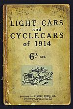 Automotive Light Cars and Cycle Cars of 1914 publication an early 62 page p