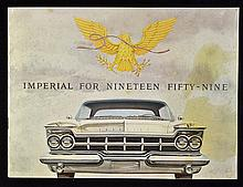 Automotive Imperial for Nineteen Fifty-Nine Catalogue a very fine 12 page s