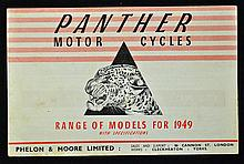 Automotive Panther Motor Cycles Range of Models for 1949 Catalogue a 7 page