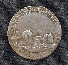 1795 Suffolk Lowestoft Token of Robert Peach  bathing machines & Fishing, o