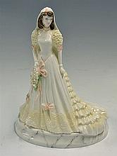 Coalport 'Bride of the Years 1994' Figurine from The Wedding Collection Wed
