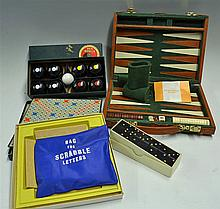 Indoor Games Selection to include a Deluxe Backgammon Travel set encased wi