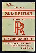 Automotive Rolls Royce Motor Cars Catalogue January 1905 a 20 page catalogu