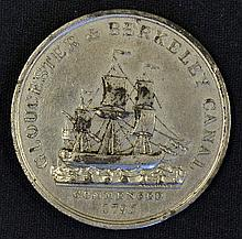 1827 Gloucester & Berkeley Ship Canal Medallion commemorating the Opening o