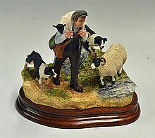 Border Fine Arts Classic 'On The Hill' Sculpture limited edition 719/750, h