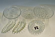 Cut Glassware Selection to include serving platters, dishes, bowls and stan
