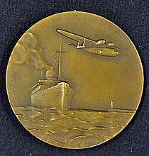 France - Chargeurs Reunis Shipping and Aviation Company Bronze Medallion Ci
