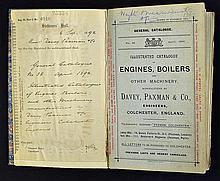 1892 Davey, Paxman & Co Trade Catalogue a very impressive 76 page catalogue