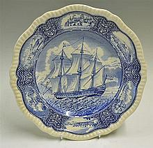 Blue and White Spode Nelson plate measures 27cm diameter approx. in good co