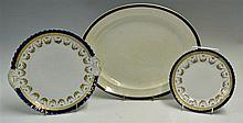 2x Large Victorian White Serving Plates 3x large oval shaped plates a Lynto