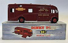Dinky Toys Horse Box No.981 in red British Railways Express Horse Box Hire