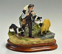 Border Fine Arts Classic 'On The Hill' Sculpture limited edition 542/750, h