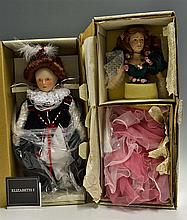 Franklin Heirloom Dolls: 18 Inch Queen Elizabeth I doll together with 20 In