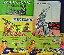 3x Meccano Catalogues 1935 with 28 pages, 1936 with 16 pages & 2 Mid 1950s