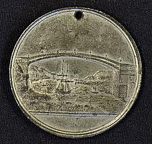 1816 Sunderland Bridge Lottery Medallion issued to promote this Lottery the