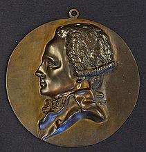 'Robespierre' an Expressive Cast Bronze Portrait of this revolutionary figu