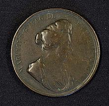 1694 Death of Queen Mary Medallion the obverse Portrait of Queen Mary and t