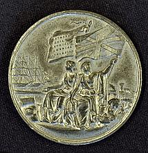 International Exhibition 1862 Attractive White Metal Medallion struck by Pi
