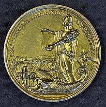 Brighton & Hove Exhibition An Award Medallion 1889 the obverse; Standing Wo