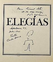 Cuba - Nicolás Guillén Signed 'Elegías' Book 1977 inscribed to Lionel Soto,