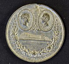 Giant 1851 Crystal Palace Exhibition Medallion Obverse; The Crystal Palace