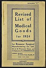 1924 Le Brassier Surgical Catalogue Revised List of Medical goods for 1924,