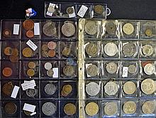 Large Selection of assorted coins, medallions and tokens includes 1897 Vict