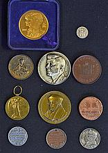Selection of various Medallions and Coins to include 1812 Birmingham Workho