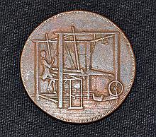 1792 John Harvey Hand-Loom Token the obverse the Norwich City Arms reverse