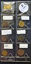 Varied Selection of Tokens and Coins to include 1876 Newcastle Tea Company,