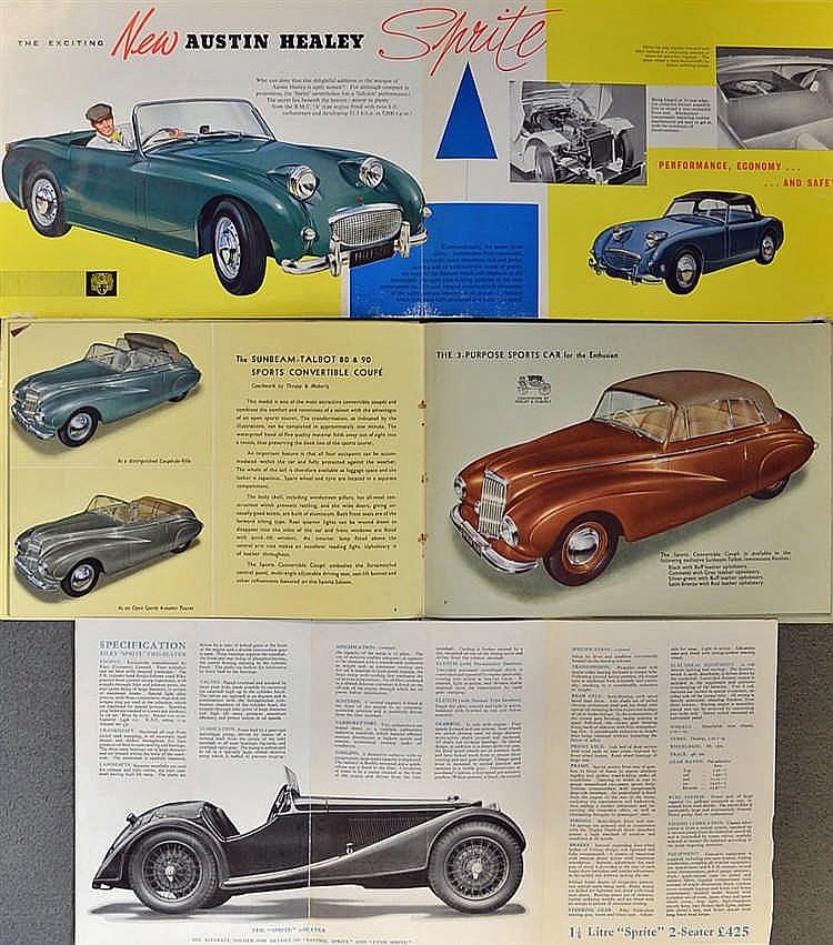 Automotive - c.1930s onwards British Car Manufacturers Broch