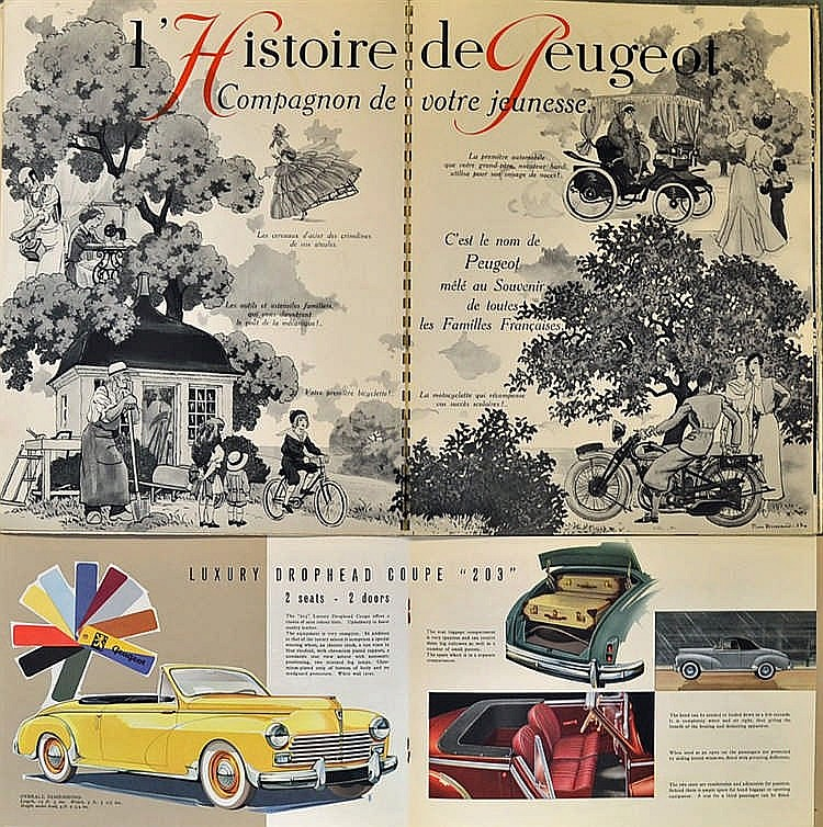 automotive rare 1933 ind pendance l 39 histoire de peugeot. Black Bedroom Furniture Sets. Home Design Ideas