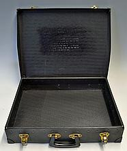 Dormie Dress Hire Case with engraved important instructions on returning items and fines that will b