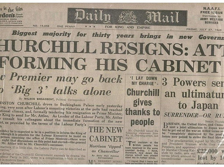 WWII - Churchill and the 1945 election original
