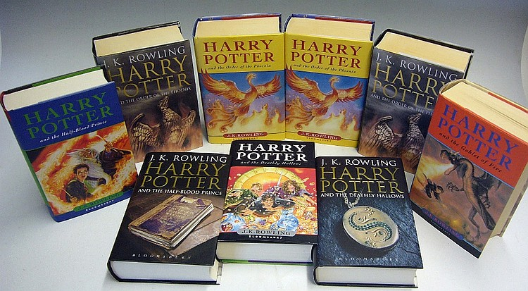 Selection Of First Edition Harry Potter Books To Include Ord