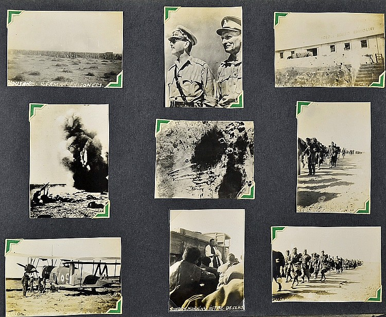 Wwii Africa Photo Album Contains Various Photograp