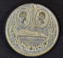 Giant 1851 Crystal Palace Exhibition Medallion Obv
