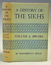 India A History of The Sikhs by Khuswant Singh Vol